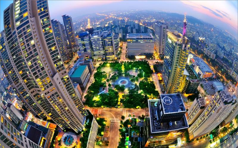 Những toà nhà cao vút tại Seoul