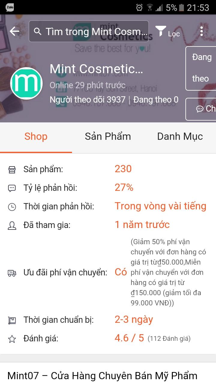 Mint Cosmetics địa chỉ mua sắm quen thuộc của giới trẻ Hà Thành