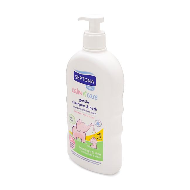 Sữa tắm Septona hương thơm tự nhiên giúp bé thư giãn và ngủ sâu hơn.