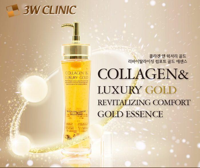 Serum dưỡng da cao cấp COLLAGEN LUXURY GOLD 3W CLINIC