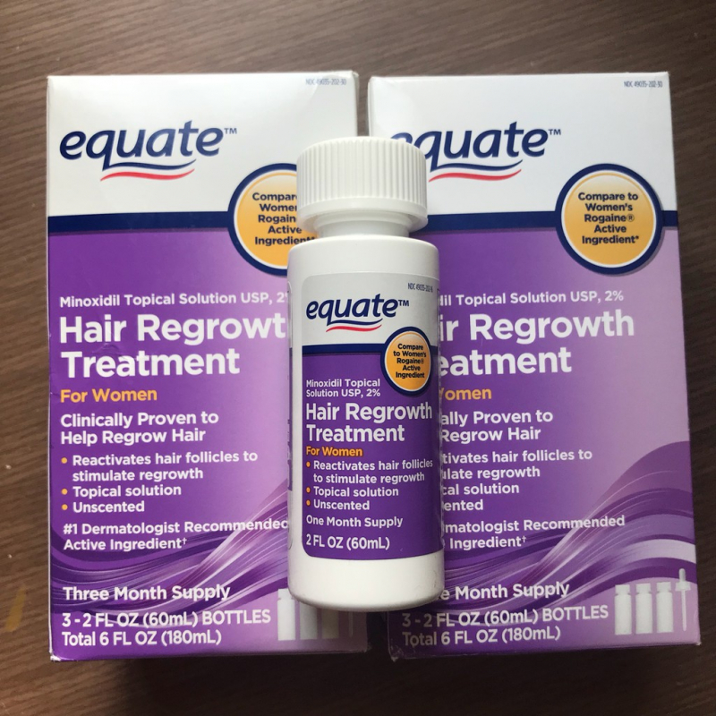 Thuốc mọc mày - tóc Equate Hair Regrowth for Women - USA