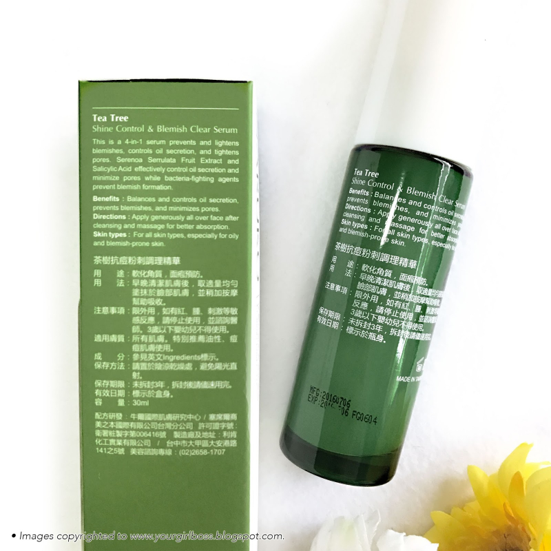 Serum Naruko Tea Tree 4 in 1 Tea Tree Shine Control & Blemish Clear