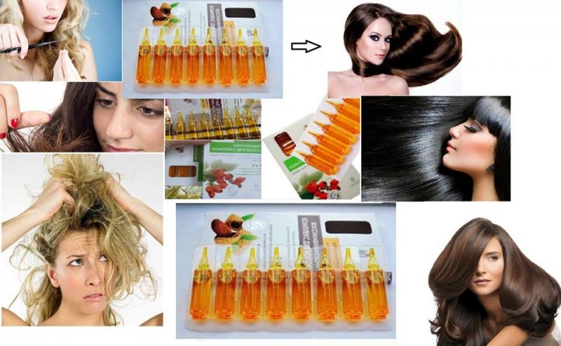 Serum Ngăn Rụng Tóc Kích Thích Mọc Tóc Của Nga với thành phần bổ sung Keratin panthenol phức hợp hỗ trợ độ ẩm tự nhiên, tăng cường cấu trúc tóc từ bên trong, sửa chữa tóc hư hỏng, chẻ ngọn từ đó kích thích sự tăng trưởng và chống rụng tóc