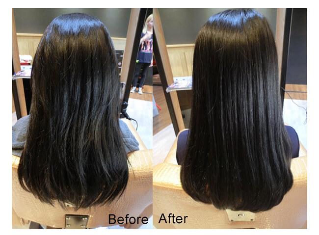 Mái tóc được phục hồi tốt khi sử dụng SERUM BƯỞI HỒNG PINK GRAPEFRUIT