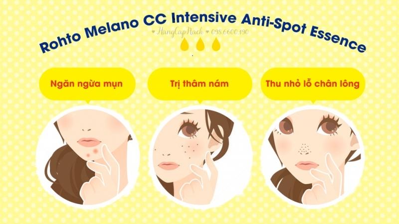 Công dụng của serum Rohto Melano CC Intensive Anti Sport