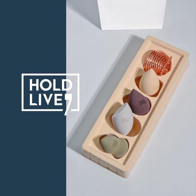 Set Bông Mút Trang Điểm Hold Live Multifunctional Beauty Blender