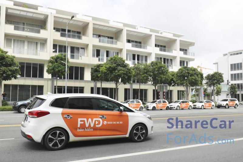 Dịch vụ quảng cáo trên xe ô tô ShareCarForAds