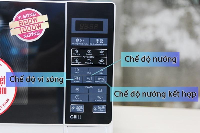 Chế độ nấu phong phú với bảng điều khiển bằng tiếng Việt dễ nắm bắt thao tác