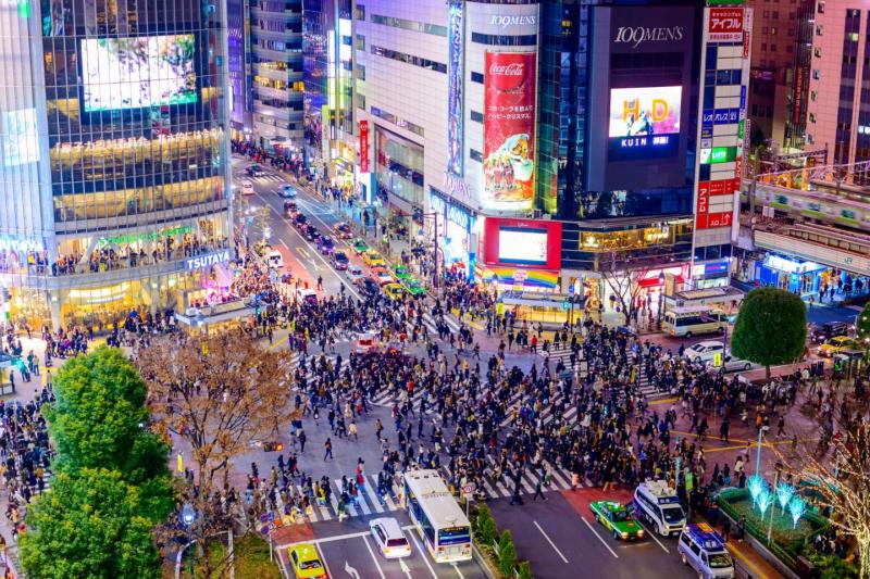 Tại Shibuya có nhiều cửa hàng thời trang