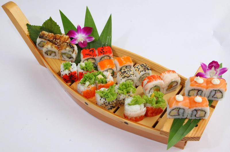 Những loại hải sản tươi sống được trang trí 1 cách tinh tế
