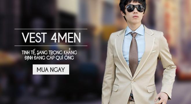 Áo vest nam kiểu dáng Hàn Quốc