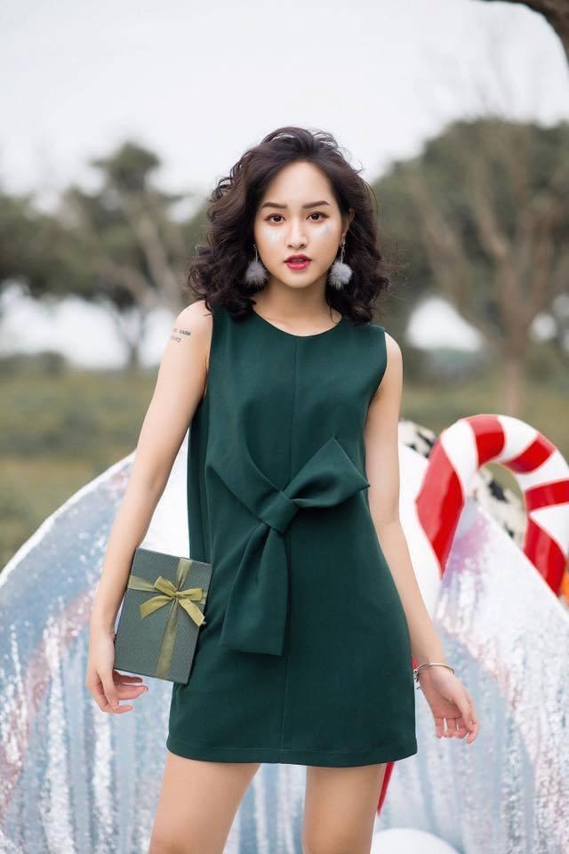 Đầm suông xanh rêu (hình ảnh lấy từ fanpage của shop)