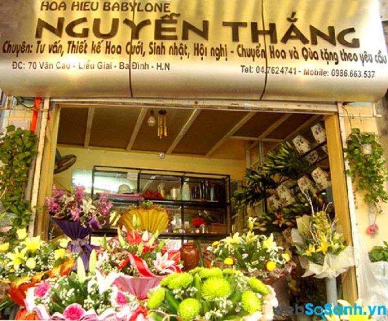 Shop hoa Nguyễn Thắng là shop hoa có mặt hàng đa dạng và giá vừa phải