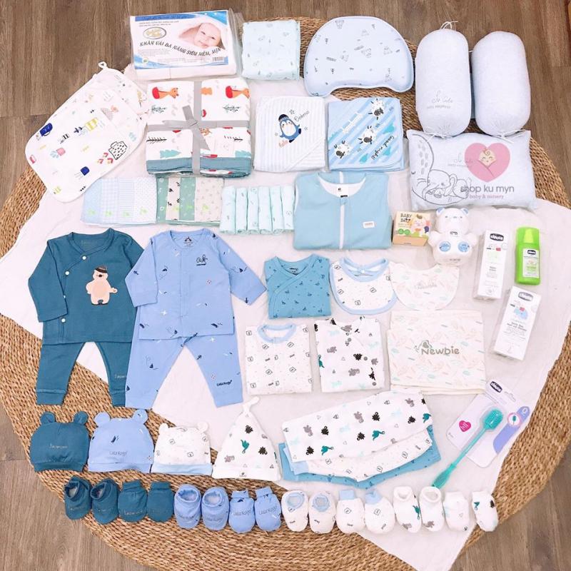 Trọn bộ đồ sơ sinh cho bé