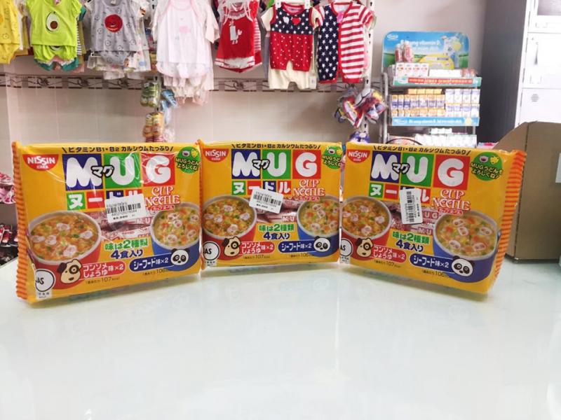 Sản phẩm mì Mug dành cho bé tại shop Mẹ và Bé Cần Thơ