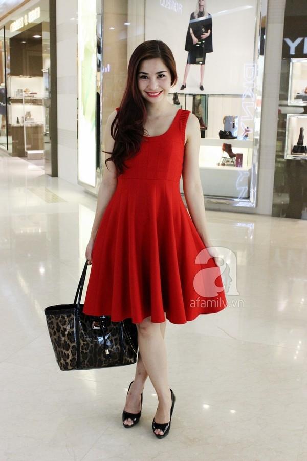 Mẫu váy đỏ đang hot tại Shop Thời Trang Levi's