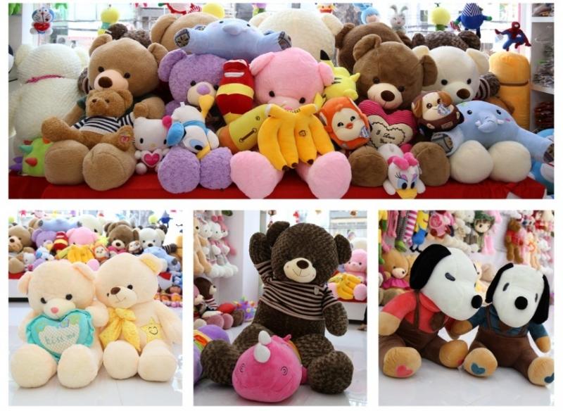 Gấu bông đủ loại, đủ màu sắc