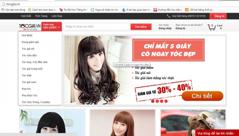 Website shop tocgia.vn