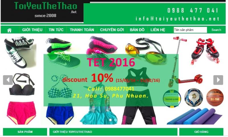 Website của Shop ToiYeuTheThao