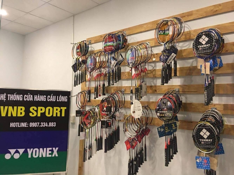 VNB với đa dạng mẫu mã, thương hiệu vợt cầu lông
