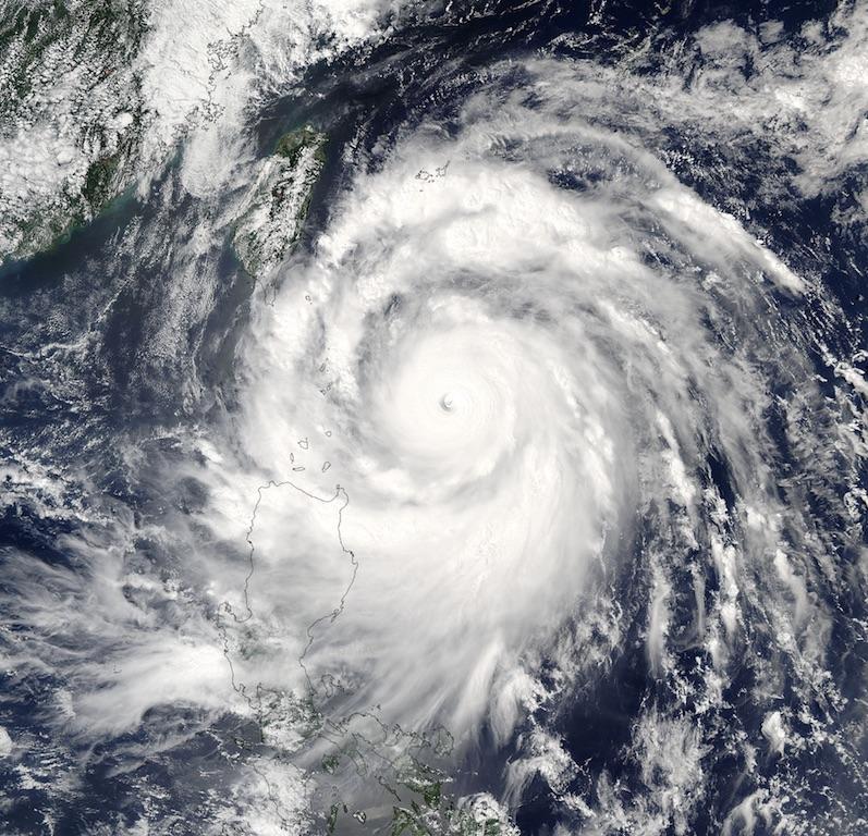Hình ảnh vệ tinh của siêu bão Vanessa.