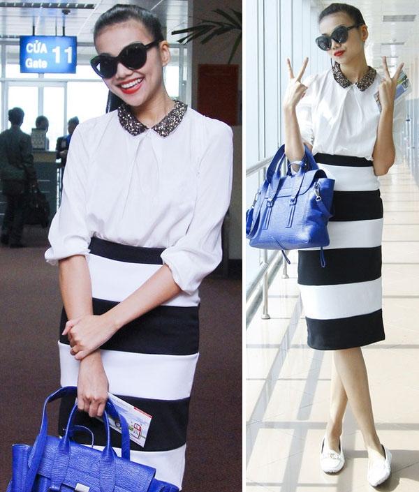 Gu thời trang thu hút của siêu mẫu Thanh Hằng