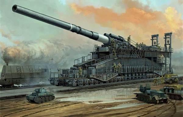 Siêu pháo Gustav của Đức Quốc Xã trong chiến tranh thế giới thứ hai.