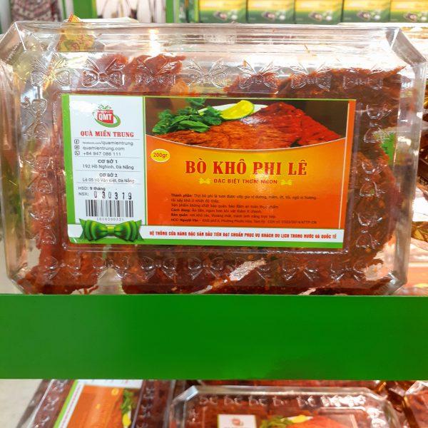 Đặc sản Quà Miền Trung - địa chỉ mua thịt bò khô ngon nhất Đà Nẵng
