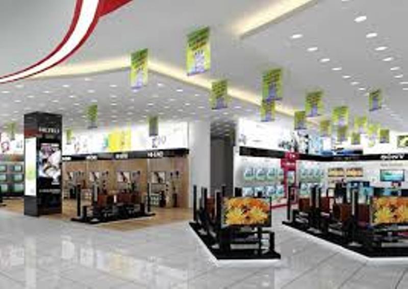 Một góc siêu thị điện máy Đức Lâm.