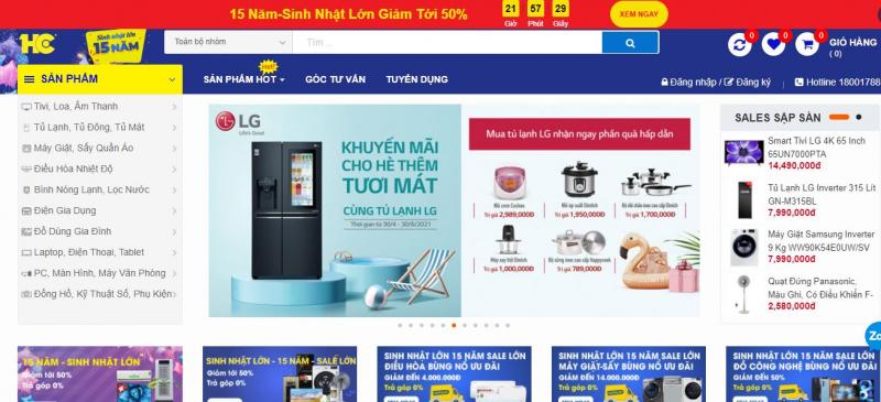 Website Siêu thị điện máy HC