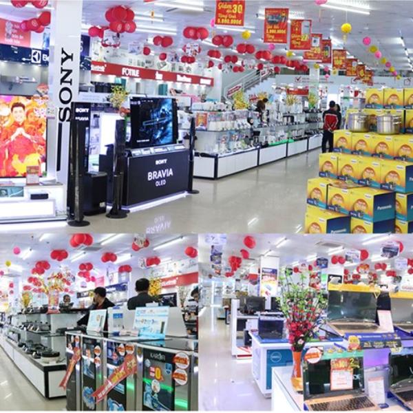 Một số góc trong siêu thị Hồng Hà