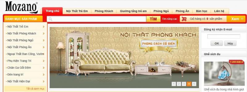 Siêu thị nội thất nhập khẩu Mozano Furniture