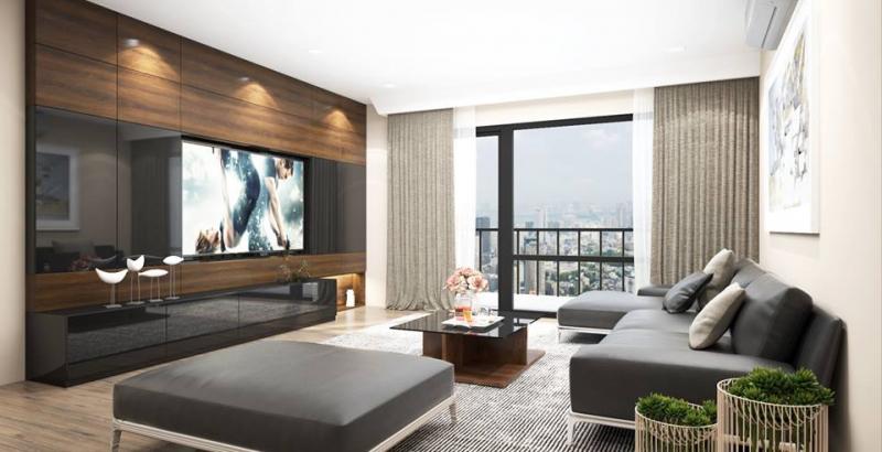 Thiết kế nội thất phòng khách của Quang Chức