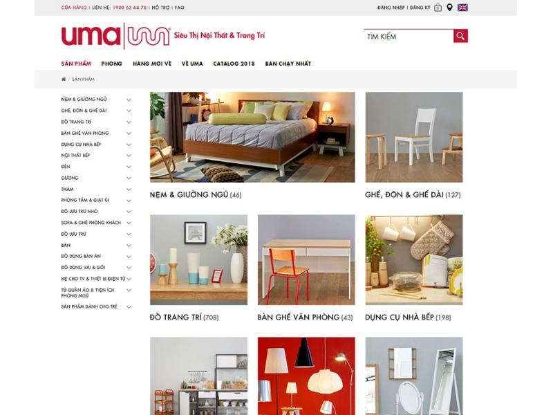 Phiên bản máy tính của UMA được thiết kế tinh giản và có bố cục rõ ràng giúp người dùng dễ dàng lựa chọn