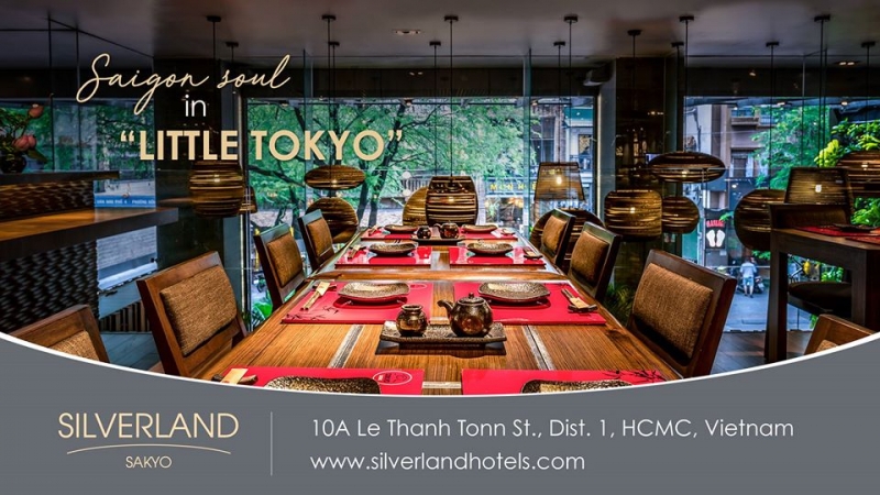 Thiết kế bàn ăn mang đậm dấu ấn Nhật Bản tại Silverland Sakyo Hotel & Spa