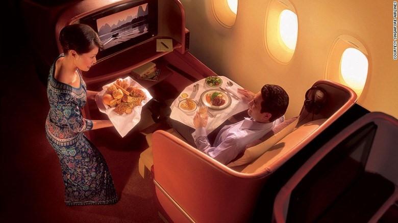 Singapore Airlines có chế độ dịch vụ cao cấp nhất và không giới hạn tiện nghi