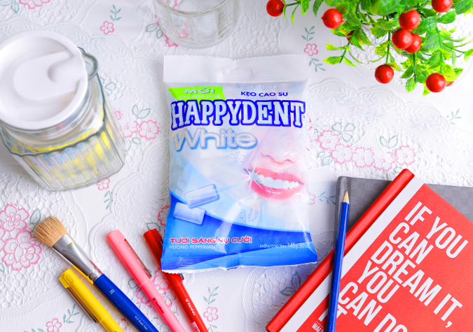 Kẹo cao su Happydent White
