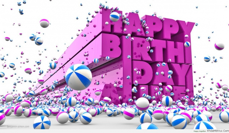 Chúc em sinh nhật ngoan hiền ...