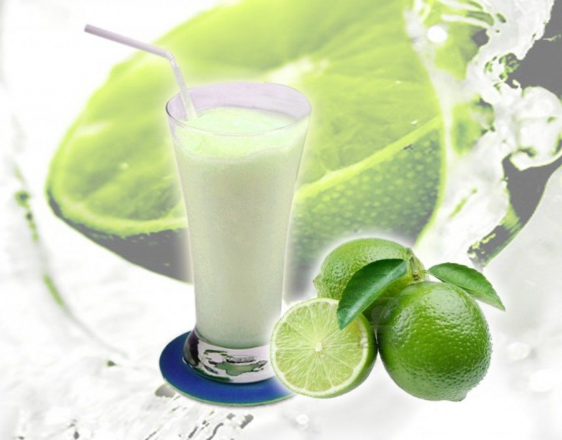 Sinh tố chanh, sữa tươi