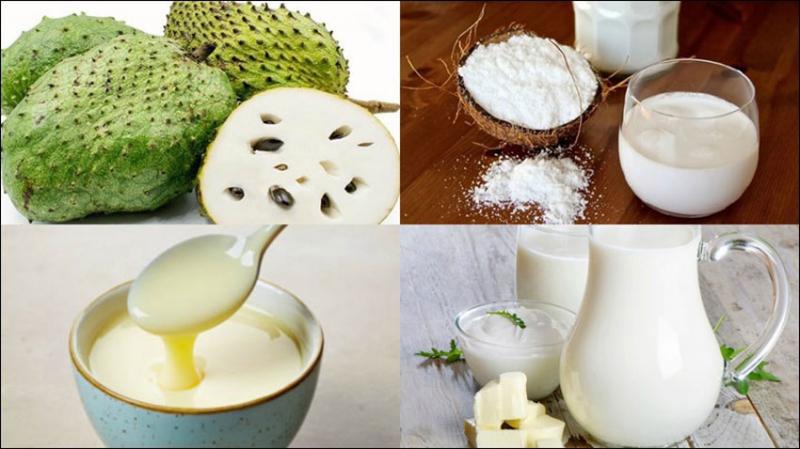 Sinh tố mãng cầu sữa