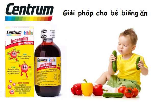 Siro Centrum Kids là vitamin nổi tiếng từ Úc là giải pháp tuyệt vời nhất giúp bổ dưỡng chất, kích thích ăn ngon cho trẻ.