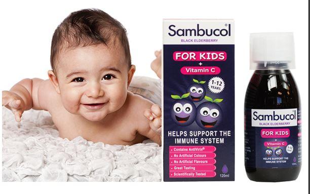 Siro Sambucol For Kids Tăng Đề Kháng 120ml (trẻ Trên 1 Tuổi)