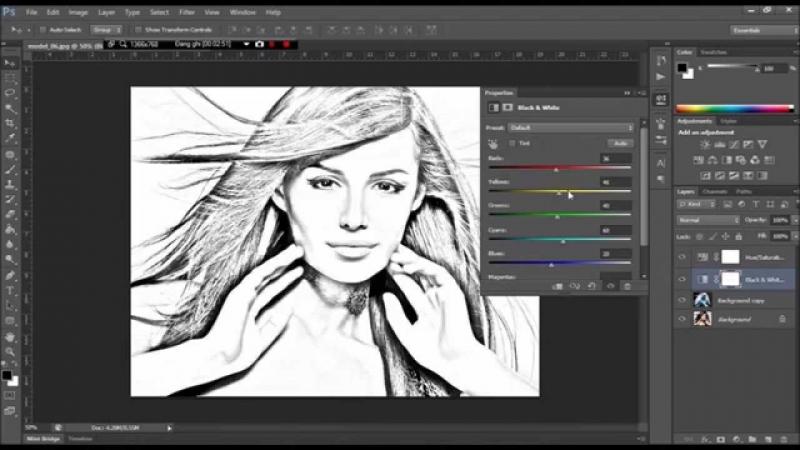Một bức ảnh được chuyển từ phần mềm Sketch Master