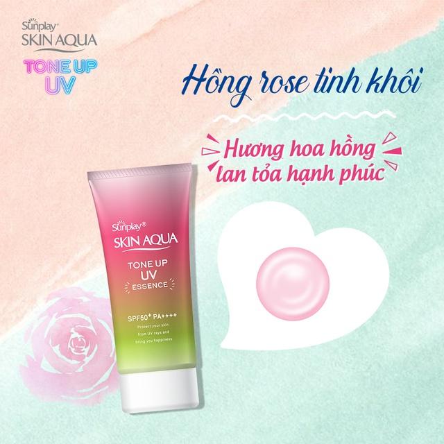 Skin Aqua Tone Up UV Essence Happiness Aura
