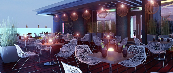 Không gian lãng mạn của Iris Sky Bar