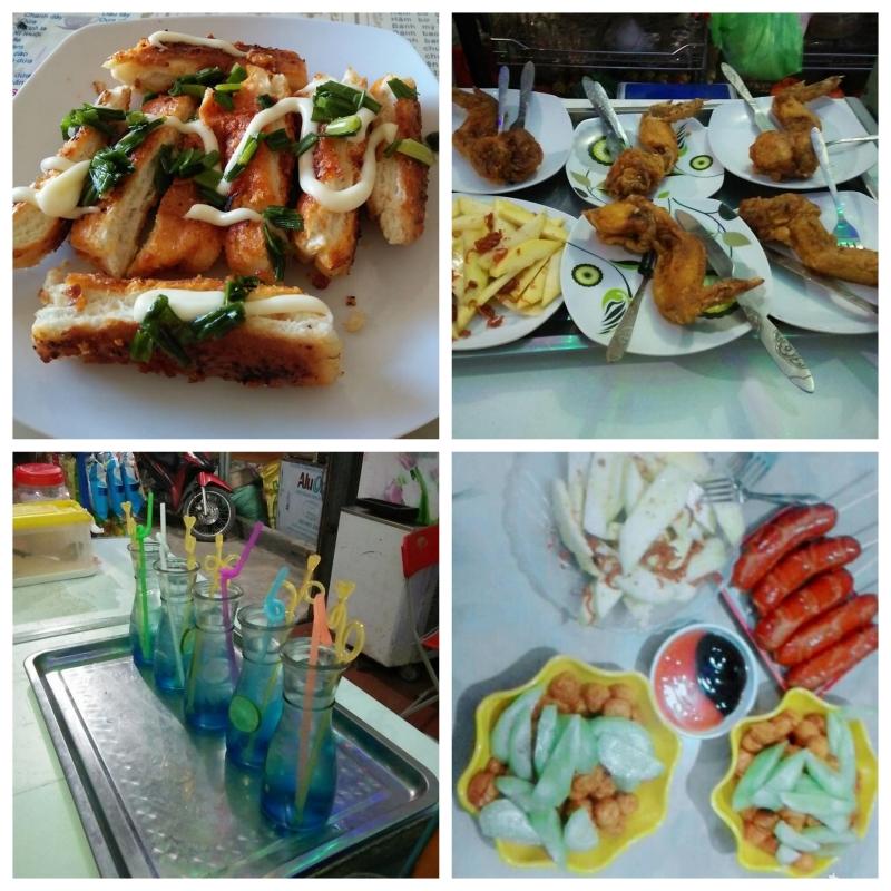 Đồ uống và đồ ăn vặt tại Đông Loan