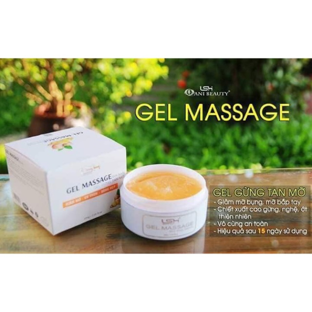 Gel Massage Slim Body Cao gừng tan mỡ