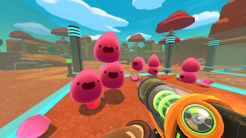 Những chú Slime vui nhộn trong game Slime Rancher