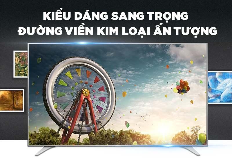 Kiểu dáng của chiếc Smart tivi LG 60 inch 60UH650T
