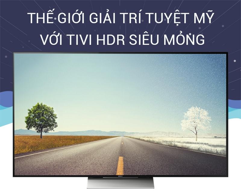 Android tivi Sony 65 inch KD-65X9300D mang đến thế giới giải trí tuyệt vời